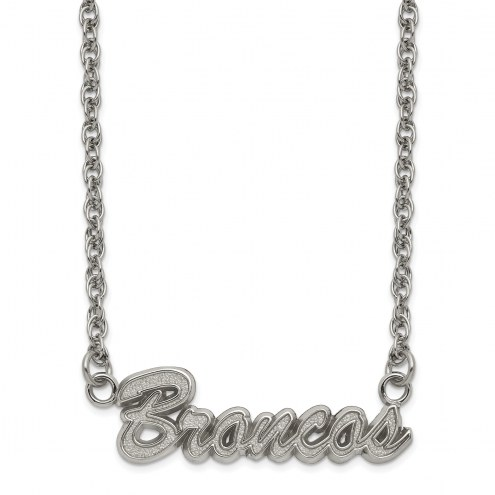 Denver Broncos Stainless Steel Script Necklace