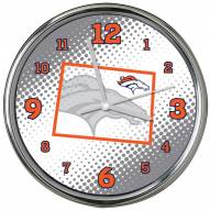 Denver Broncos State of Mind Chrome Clock