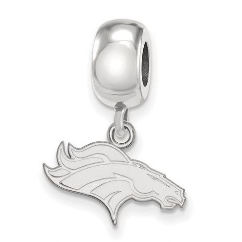 Denver Broncos Sterling Silver Extra Small Dangle Bead Charm