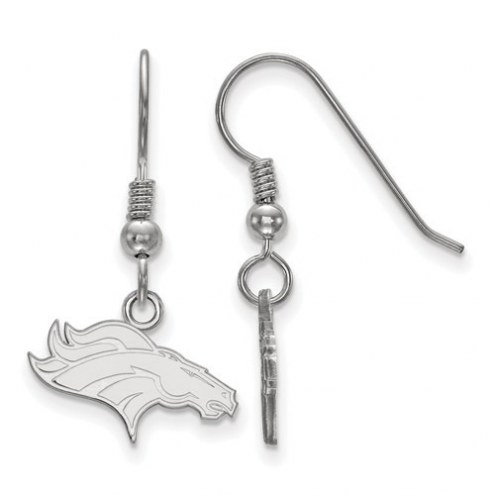 Denver Broncos Sterling Silver Extra Small Wire Dangle Earrings