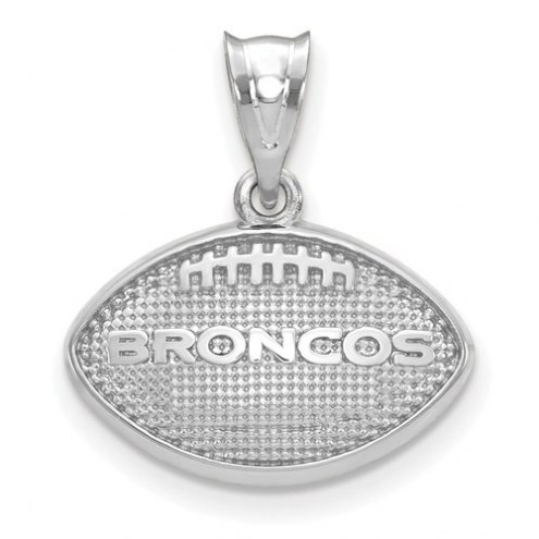 Denver Broncos Sterling Silver Football with Logo Pendant