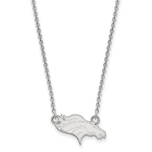 Denver Broncos Sterling Silver Small Pendant with Necklace
