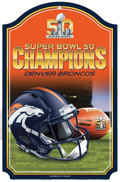 Denver Broncos Super Bowl Champions Wood Sign