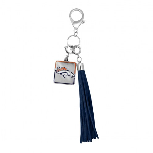 Denver Broncos Tassel Purse Charm