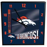 Denver Broncos Team Black Square Clock