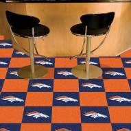 Denver Broncos Team Carpet Tiles