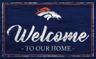 Denver Broncos Team Color Welcome Sign
