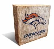 Denver Broncos Team Logo Block