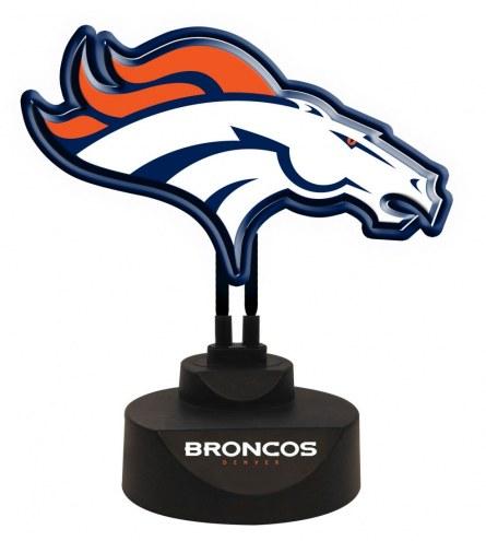 Denver Broncos Team Logo Neon Light