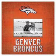 """Denver Broncos Team Name 10"""" x 10"""" Picture Frame"""