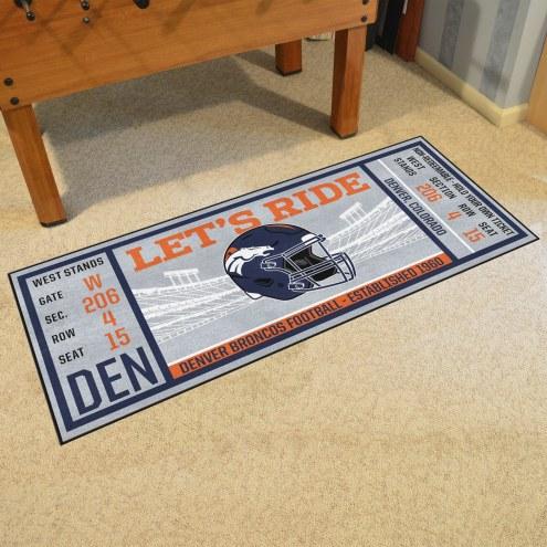 Denver Broncos Ticket Runner Rug