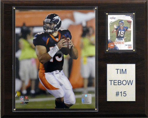 "Denver Broncos Tim Tebow 12 x 15"" Player Plaque"