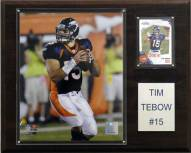 """Denver Broncos Tim Tebow 12 x 15"""" Player Plaque"""