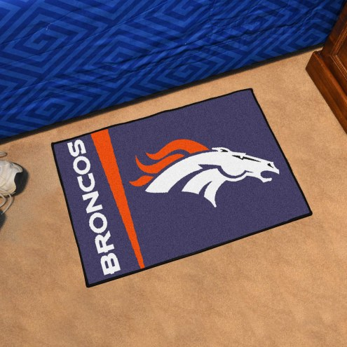Denver Broncos Uniform Inspired Starter Rug