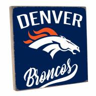 Denver Broncos Vintage Square Wall Sign