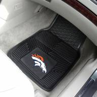 Denver Broncos Vinyl 2-Piece Car Floor Mats