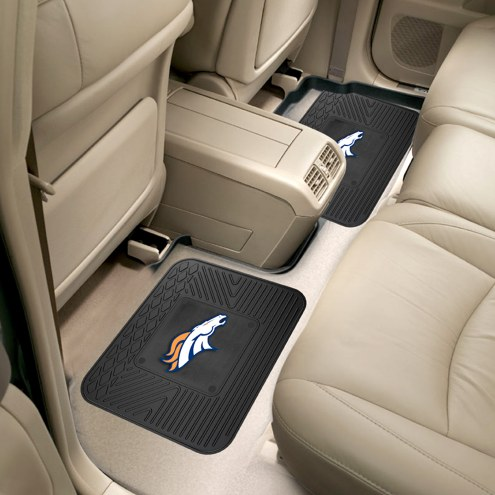 Denver Broncos Vinyl 2-Piece Rear Floor Mats