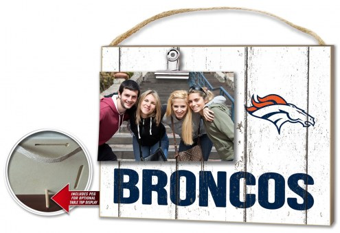 Denver Broncos Weathered Logo Photo Frame