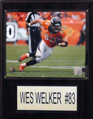 "Denver Broncos Wes Welker 12 x 15"" Player Plaque"
