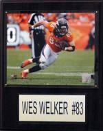 """Denver Broncos Wes Welker 12 x 15"""" Player Plaque"""