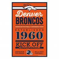Denver Broncos Established Wood Sign