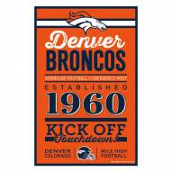 Denver Broncos Established Wood Sign