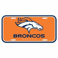 Denver Broncos License Plate