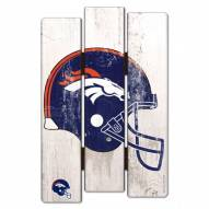 Denver Broncos Wood Fence Sign