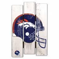 Denver Broncos Wood Fence Sign