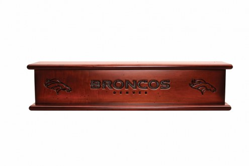Denver Broncos Wood Wall Shelf