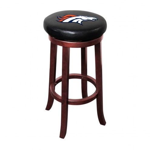 Denver Broncos Wooden Bar Stool