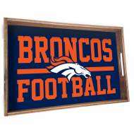 Denver Broncos Wooden Serving Tray
