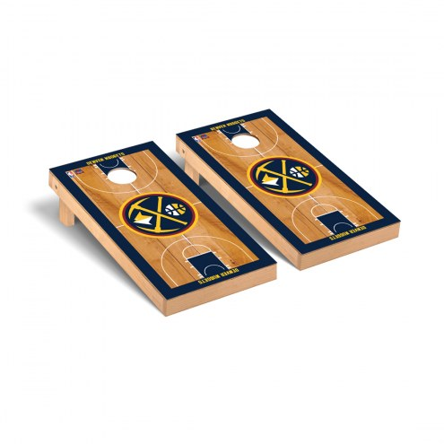 Denver Nuggets Basketball Court Cornhole Game Set