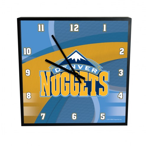 Denver Nuggets Carbon Fiber Square Clock