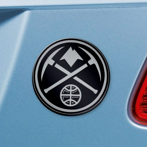 Denver Nuggets Chrome Metal Car Emblem