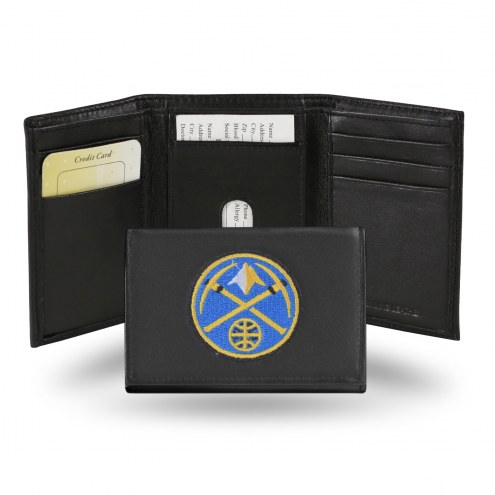 Denver Nuggets Embroidered Leather Tri-Fold Wallet