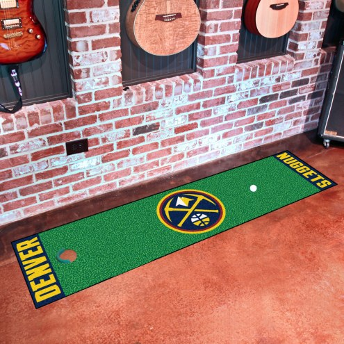 Denver Nuggets Golf Putting Green Mat