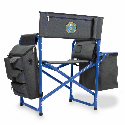 Denver Nuggets Gray/Blue Fusion Folding Chair