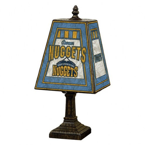 Denver Nuggets Hand-Painted Art Glass Table Lamp