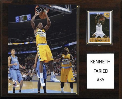 "Denver Nuggets Kenneth Faried 12"" x 15"" Player Plaque"