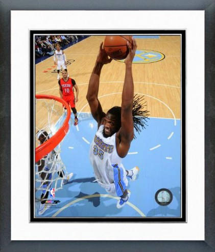 Denver Nuggets Kenneth Faried Action Framed Photo
