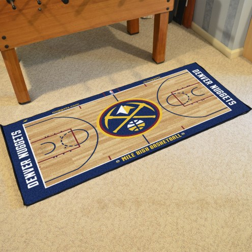 Denver Nuggets NBA Court Large Runner