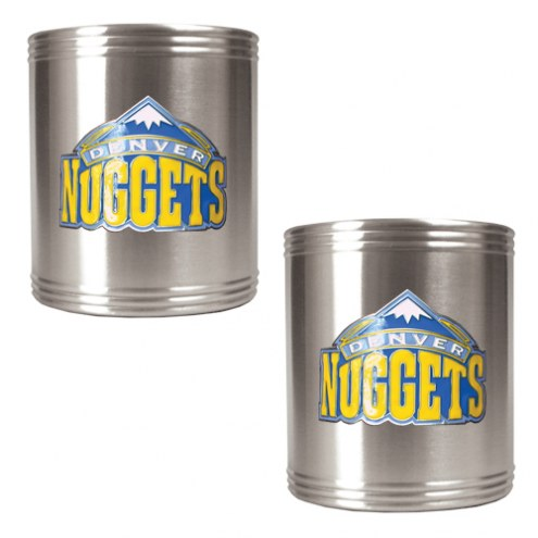 Denver Nuggets NBA Stainless Steel Can Holder 2-Piece Set
