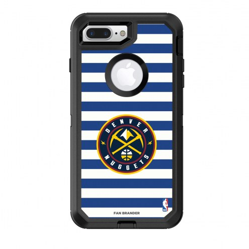 Denver Nuggets OtterBox iPhone 8 Plus/7 Plus Defender Stripes Case