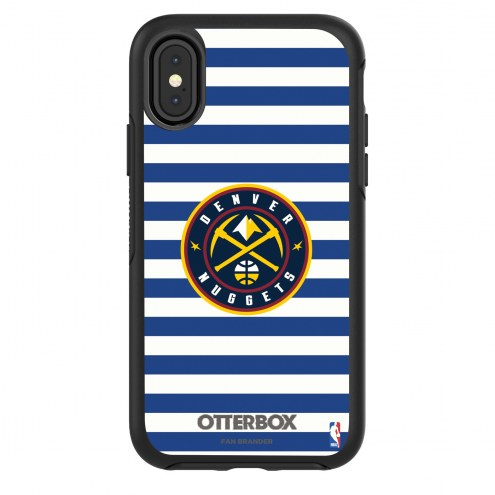 Denver Nuggets OtterBox iPhone X/Xs Symmetry Stripes Case