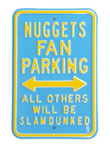 Denver Nuggets Slam Dunked Parking Sign