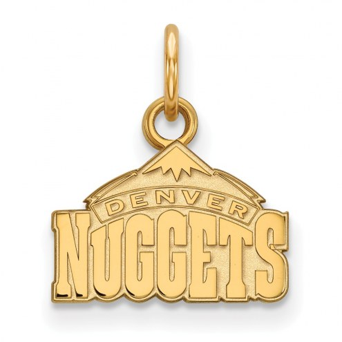 Denver Nuggets Sterling Silver Gold Plated Extra Small Pendant