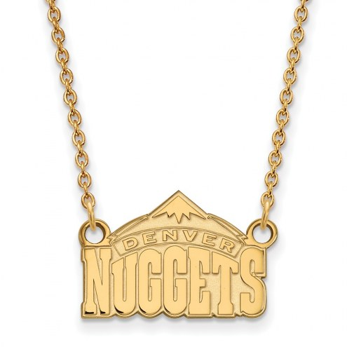 Denver Nuggets Sterling Silver Gold Plated Small Pendant Necklace
