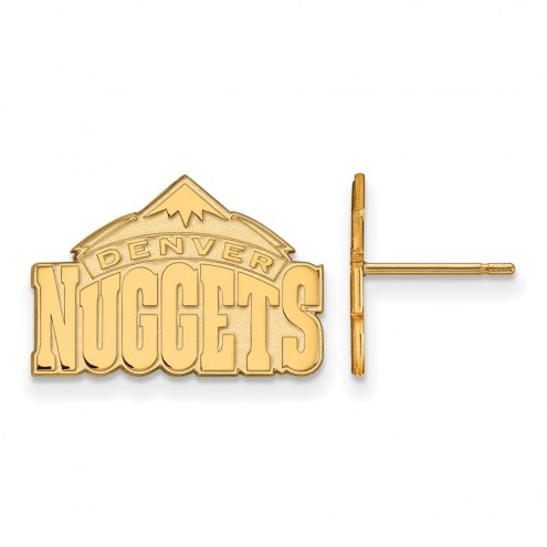 Denver Nuggets Sterling Silver Gold Plated Small Post Earrings