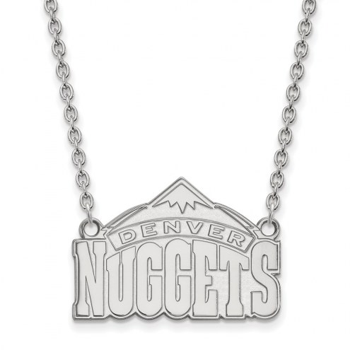 Denver Nuggets Sterling Silver Large Pendant Necklace